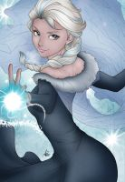 Artgerm's Elsa colored by Luphinia by Luphinia