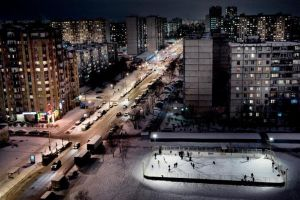 Moscow evenig from My window by ixabar