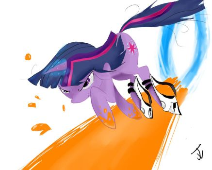 Who need wings when you have portals? by Blackmell