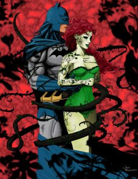 Batman And Poison Ivy By Jonbland by JonBland