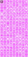 Free Pink Button Icons by aha-soft-icons
