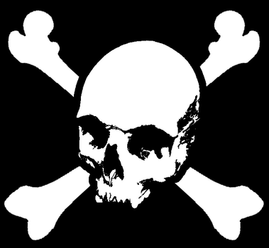 Pirate Flag Stencil by SubZenyth