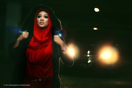 Red in Black, Light and Me by rindudendam