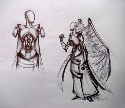 Sketch Angel M 3Dark Angel quick sketch by RuslansGolubevs