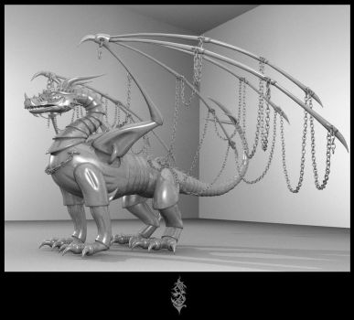 Heavy metal dragon by Forace
