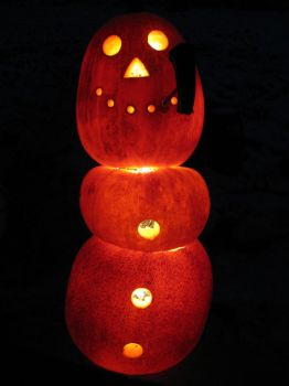 Frosty's Frozen and Lit by Pumpkin-Crazy
