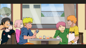 Breakfast With Friends ~ Anime Crossover by TheMuseumOfJeanette
