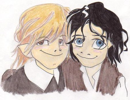 Frodo and Sam by crunchychibi
