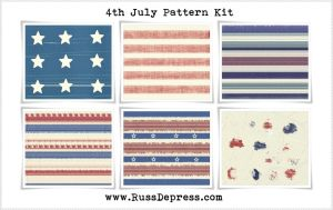 4 of july stars and stripes pattern kit by iCatchUrDream
