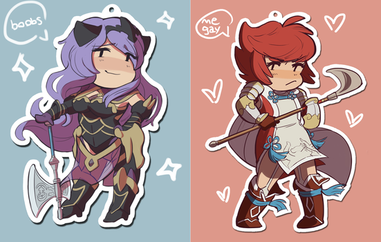PREORDERS OPEN-hinoka/camilla acrylic phone charms by fossilizer