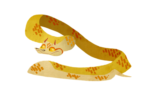 Dave the Horned Viper by its-a-mau