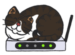 Router Cat by akaLOLCat