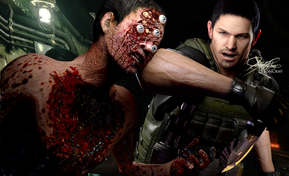 PRACTICE - Chris Redfield (1) by LeonCray