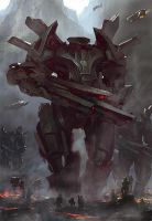 Mecha war - step2 by Grosnez