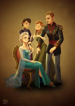 Frozen Royal Family by miacat7