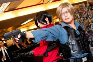 Leon And Ada Wong , Resident Evil 6 cosplay by Akira0617