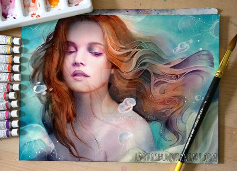 Tide - Watercolor Painting by Laovaan