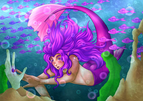 Underwater curiosity by Animefanka