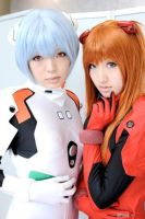 Evangelion - Rei and Asuka by AsturCosplay