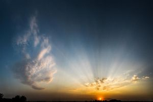 Sun rays and fire cloud by Shtefhan