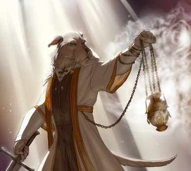 Comission for Scare-Safe: The Golden Censer by BlackWiteBeast