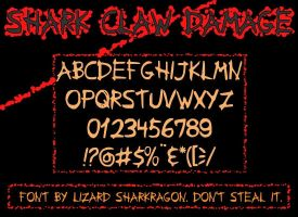 Font - Shark Claw Damage by TheSharkMaster