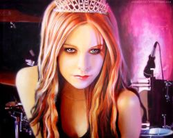 Acrylic Pinting_Avril Lavigne by Aschiontry