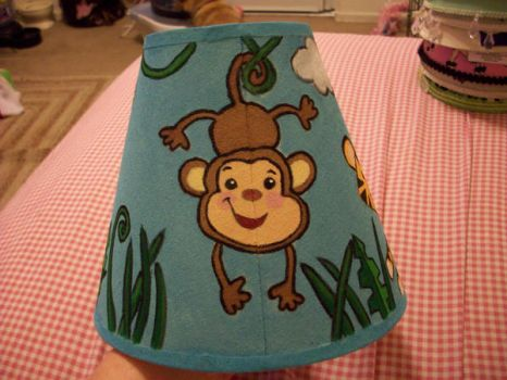 Jungle Lampshade 2 by Gippaloo