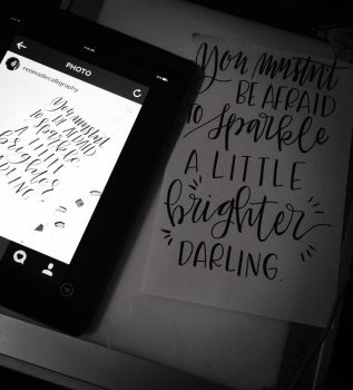 Hand lettering by GilmoreFriends