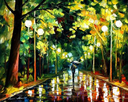 Romantic mood by Leonid Afremov by Leonidafremov