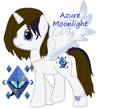 Azure Moonlight open wings by ebojf