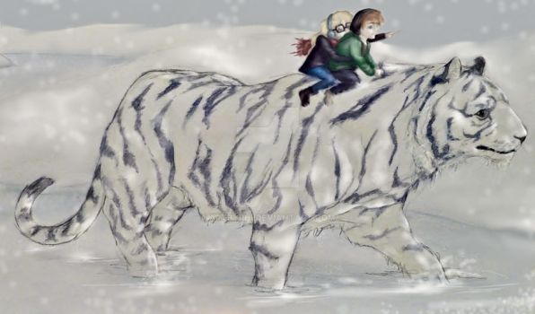 Adventures with a giant tiger by artbyRHI