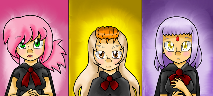The three ladies of sonic by MetalCarebearGirl