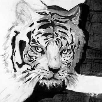 white tiger  by TopHatMcgee