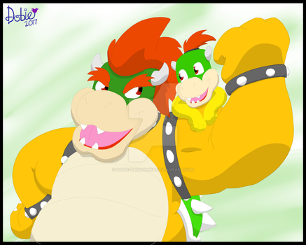 Bowser and Son by Dobie-Takahama