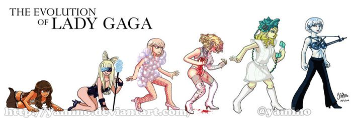 Evolution of Lady Gaga by Yamino