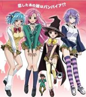 Rosario + Vampire by dragonfire64