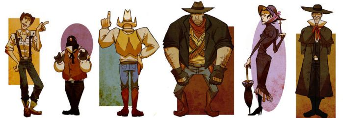 TF2 western style by spacerocketbunny