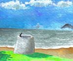 Martello Tower I - sketch by eaneli