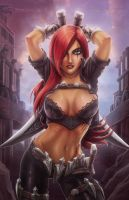 League-of-Legends Katarina by madmagnus