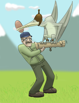If dinosaurs lived with humans... Ornithocheirus by PicassoProtege