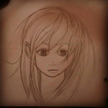 Sketch of a girl by Emperor-CatVI