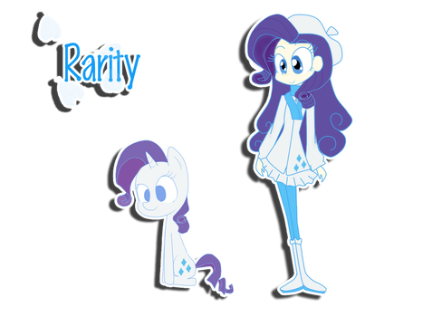 Rarity human and pony by PinkiePieLovely