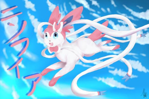 Sylveon by Akitasune