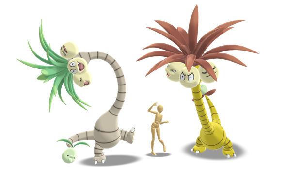 MMD - Alolan Exeggutor *DL* by Catty-Mintgum