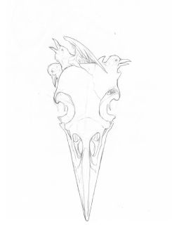 Tattoo sketch - Crow flight (WIP variant) by Claire-CHR