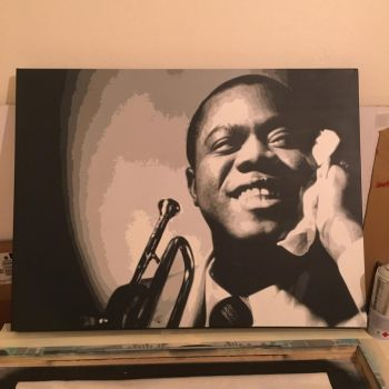 louis armstrong by e1kel