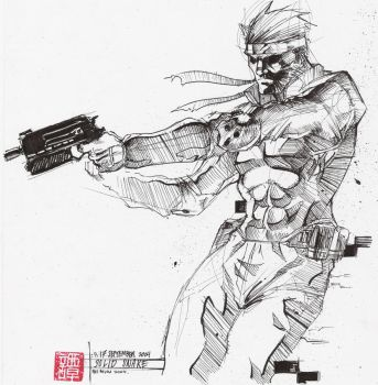Solid Snake by NuMioH