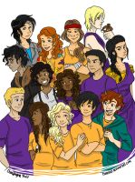 Just The Percy Jackson Gang by chloisssx3