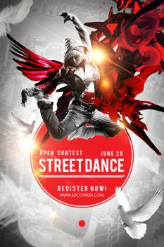 Street Dance Competition Poster Design by jayicesight